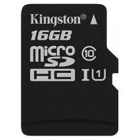 Карта памяти Kingston microSDHC 16GB 10 class